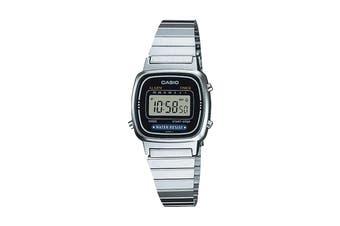 Casio Ladies Digital Stop Watch -Silver/Black (LA670WA-1UR)