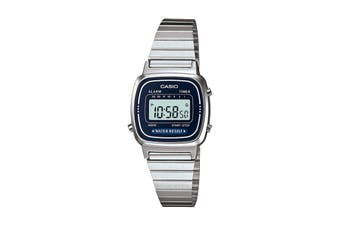 Casio Ladies Digital Watch -Silver/Blue (LA670WA-2D)