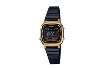 Casio Ladies Digital Watch -Black/Gold (LA670WEGB-1B)