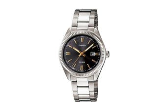 Casio Analog Stainless Steel Watch - Black (LTP1302D-1A2)