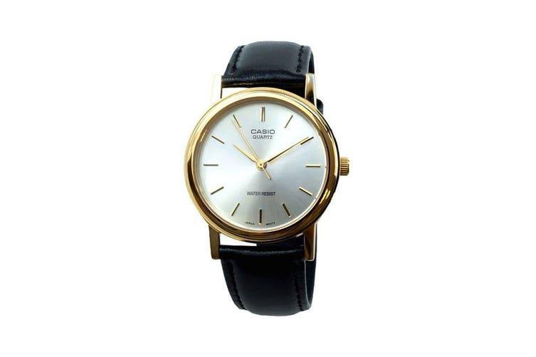 Casio Analog Vintage Watch with Leather Band - Black (MTP1095Q-7A)