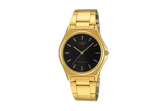 Casio Analog Stainless Steel Watch - Black/Gold (MTP1130N-1A)