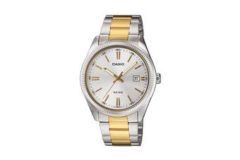 Casio Analog Stainless Steel Watch - Silver/Gold (MTP1302SG-7A)