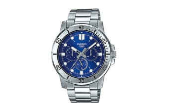 Casio Analog Stainless Steel Watch - Blue/Silver (MTPVD300D-2E)