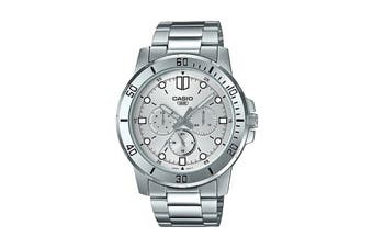 Casio Analog Stainless Steel Watch - Silver (MTPVD300D-7E)