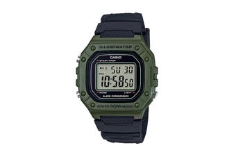 Casio Illuminator Digital Watch - Black/Green (W218H-3A)