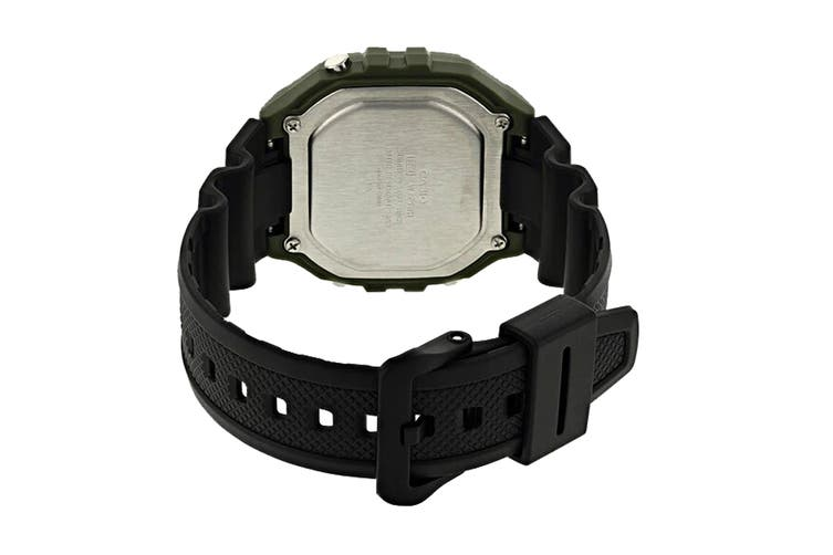 Casio Illuminator Digital Watch - Black/Green (W218H-3A)