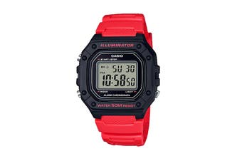 Casio Illuminator Digital Watch - Black/Red (W218H-4B)