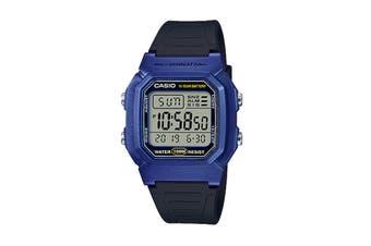 Casio Digital Watch - Black/Blue (W800HM-2A)