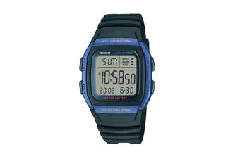 Casio Digital Watch - Black/Blue (W96H-2A)