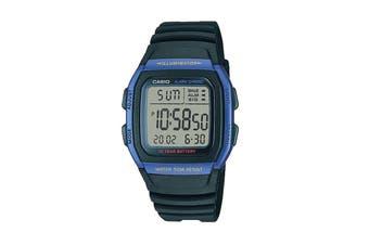 Casio Digital Watch - Black/Blue (W96H-2A)