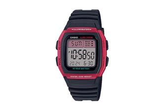 Casio Digital Watch - Black/Red (W96H-4A)