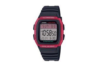 Casio Digital Watch - Black/Red (W96H-4A)