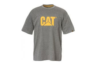 Caterpillar Men's Trademark Logo Tee (Dark Heather Grey)