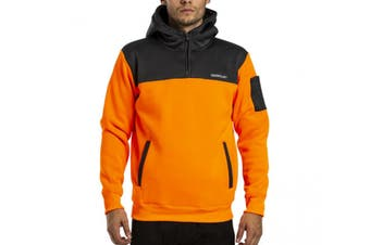 Caterpillar Men's Hi Vis Hoodie (Orange/Night Camo)