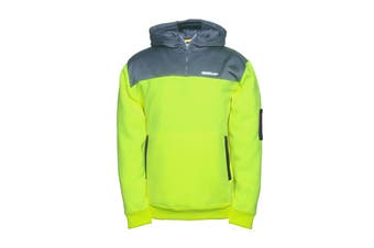 Caterpillar Men's Hi Vis Hoodie (Hi Vis Yellow/Grey)