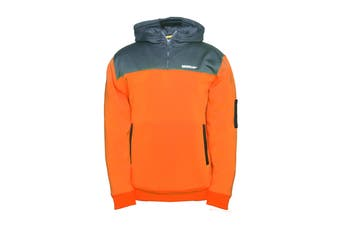 Caterpillar Men's Hi Vis Hoodie (Hi Vis Orange/Grey)