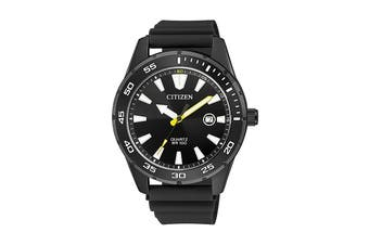 Citizen Men's 42mm Analog Dress Quartz Watch with Date, Polyurethane Strap & Buckle - Black (BI1045-13E)