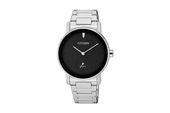 Citizen Ladies' 34mm Analog Dress Quartz Watch with 3 Hands, Multi Dial, Stainless Steel Bracelet & Push Button Buckle - Black/Stainless Steel (EQ9060-53E)