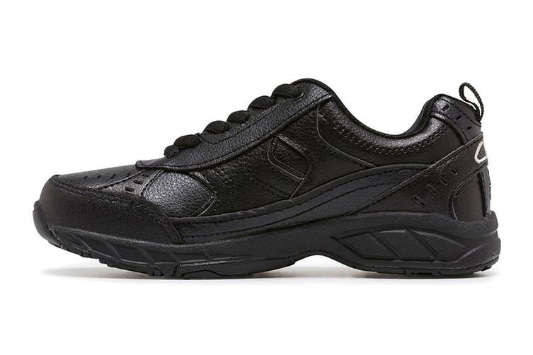 Clarks Kids Vancouver Shoe (Black E+, Size 012 UK)
