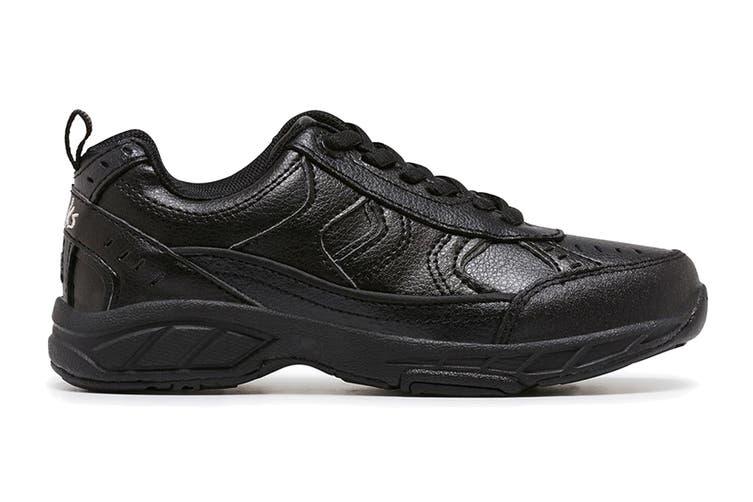 Clarks Kids Vancouver Shoe (Black E+, Size 08 UK)