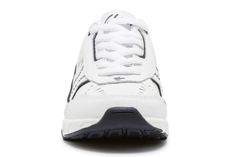 Clarks Kids Vancouver Shoe (White/Navy E+, Size 09 UK)