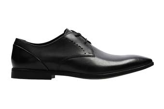 Clarks Men's Bampton Lace Shoe (Black Leather G)