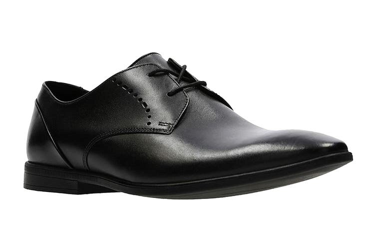 Clarks Men's Bampton Lace Shoe (Black Leather G, Size 7 UK)