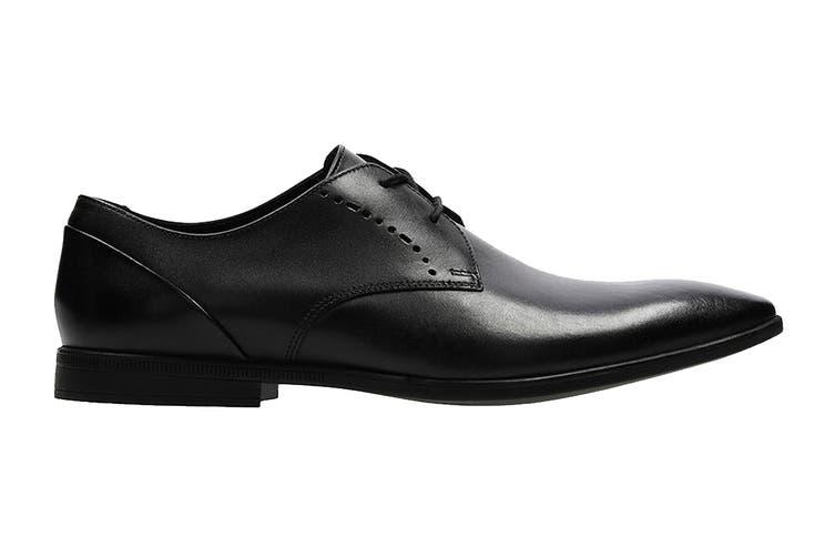 Clarks Men's Bampton Lace Shoe (Black Leather G, Size 8.5 UK)