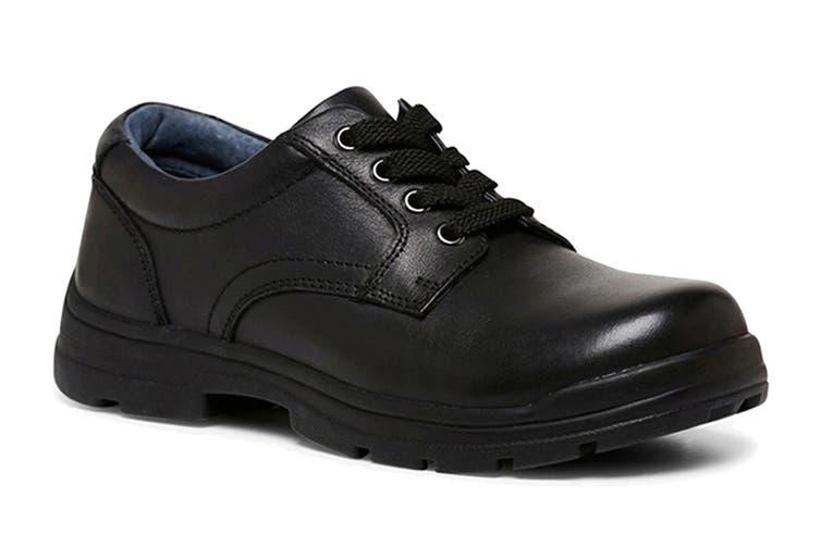 Clarks Boys' Mentor Shoe (Black F Wide, Size 09 UK)