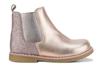 Clarks Girls' Chelsea Inf Shoe (Rose Gold Glitter E)