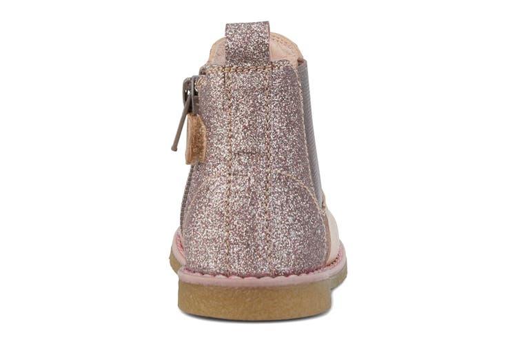 Clarks Girls' Chelsea Inf Shoe (Rose Gold Glitter E, Size 21 EU)