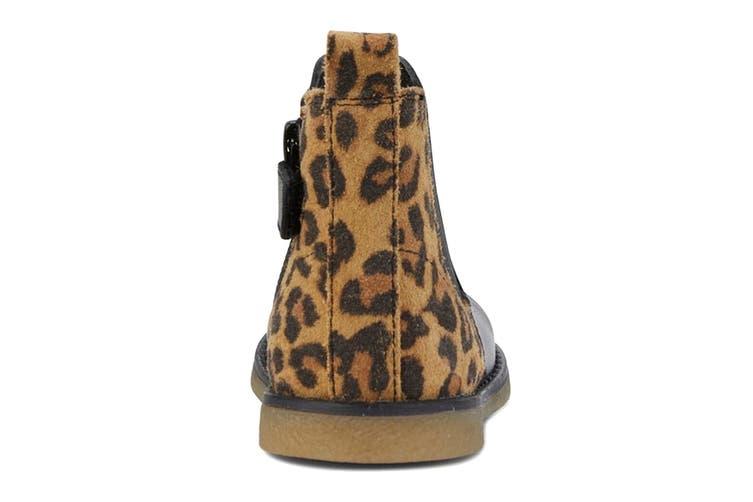 Clarks Girls' Chelsea Inf Shoe (Black Leopard E, Size 22 EU)