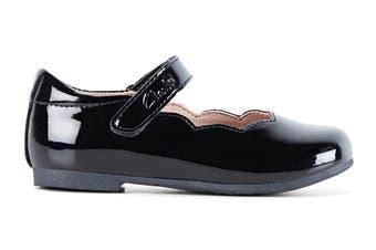 Clarks Girls' Audrey Jnr Shoe (Black Patent E)