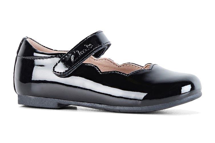 Clarks Girls' Audrey Jnr Shoe (Black Patent E, Size 21 EU)