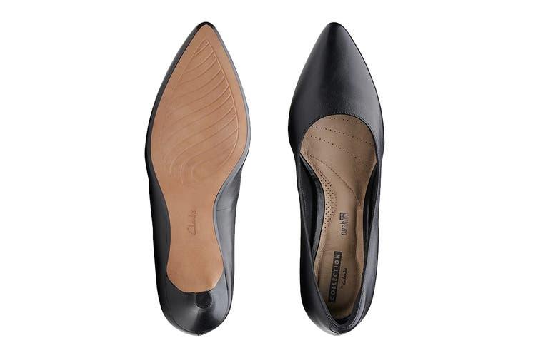 Clarks Women's Linvale Jerica Shoe (Black Leather D, Size 7 UK)
