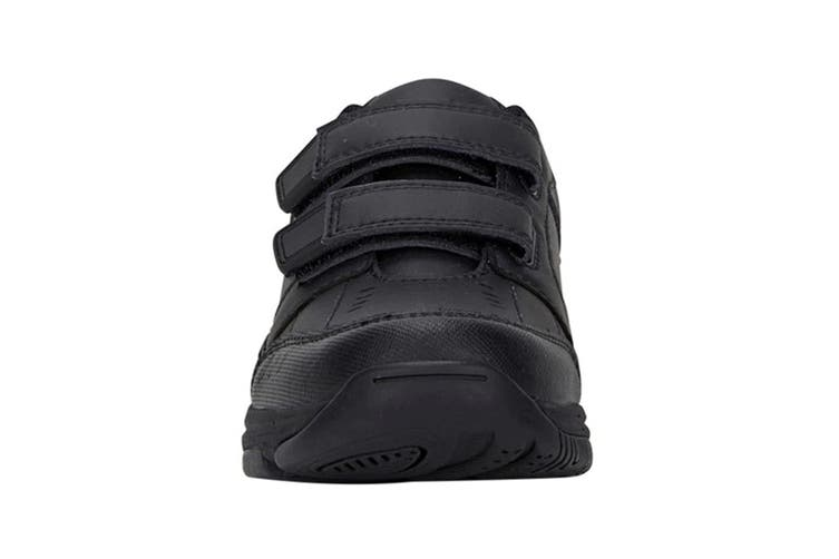 Clarks Kids Advance Shoe (Black E+, Size 4 UK)