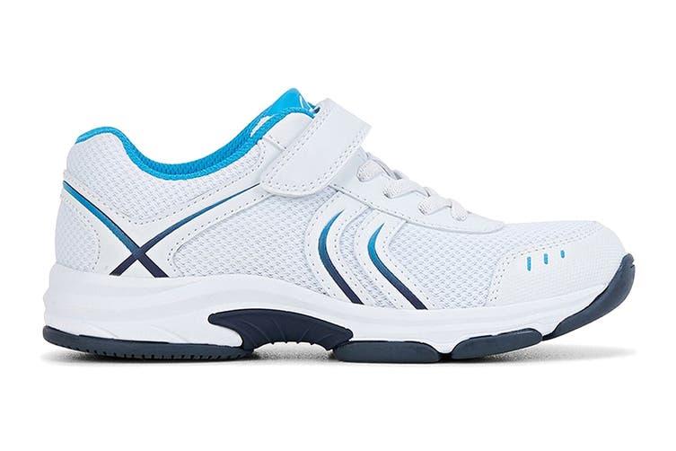 Clarks Kids Arrow Shoe (White/Blue/Navy E+, Size 4 UK)