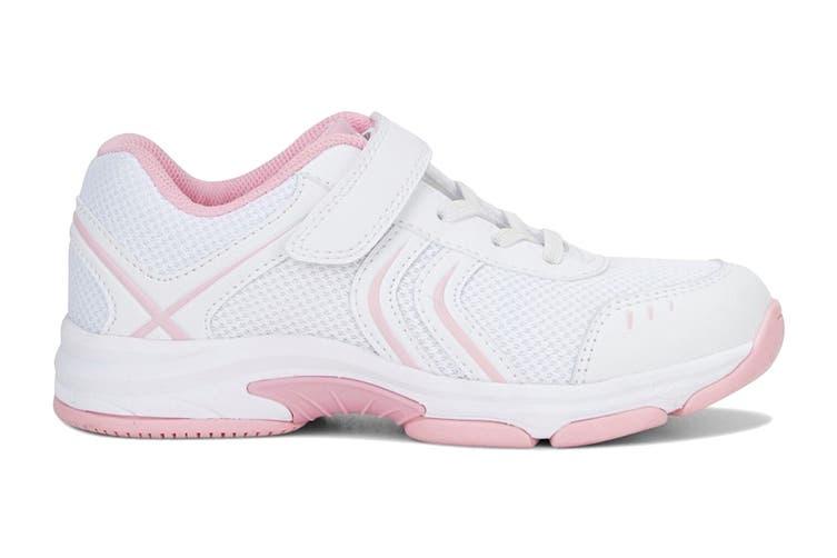 Clarks Kids Arrow Shoe (White/Pink E+, Size 010 UK)