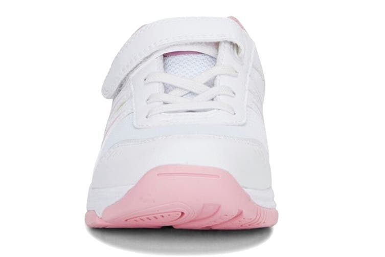 Clarks Kids Arrow Shoe (White/Pink E+, Size 013 UK)