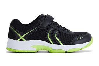 Clarks Kids Arrow Shoe (Black/Lime E+, Size 1 UK)
