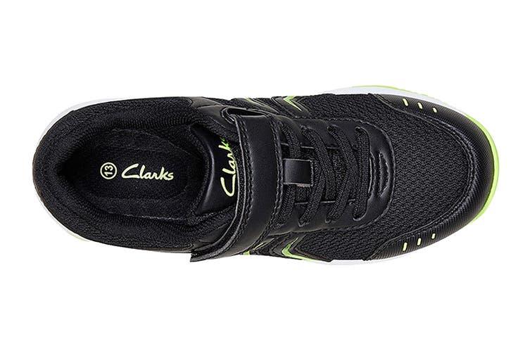 Clarks Kids Arrow Shoe (Black/Lime E+, Size 08 UK)