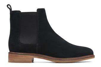 Clarks Women's Clarkdale Arlo Shoe (Black Suede D)