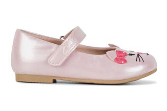 Clarks Girls' Alice Shoe (Pale Pink Pearl/Pink Bow E)