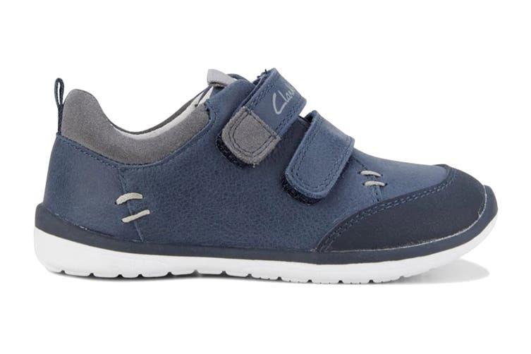 Clarks Boys' Marco Shoe (Navy/Grey D, Size 04 UK)