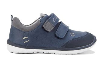 Clarks Boys' Marco Shoe (Navy/Grey D, Size 08 UK)