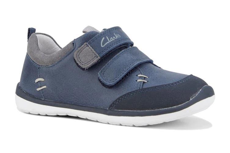 Clarks Boys' Marco Shoe (Navy/Grey E, Size 05.5 UK)
