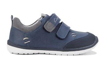 Clarks Boys' Marco Shoe (Navy/Grey E, Size 05 UK)