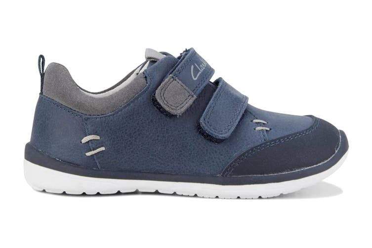 Clarks Boys' Marco Shoe (Navy/Grey E, Size 07.5 UK)