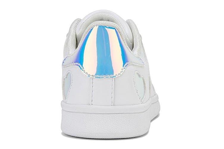Clarks Girls' Dixie Shoe (White/Hologram E+, Size 38 EU)